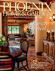 Apache Springs Ranch featured on Oct 2015 cover of Phoenix Home and Garden